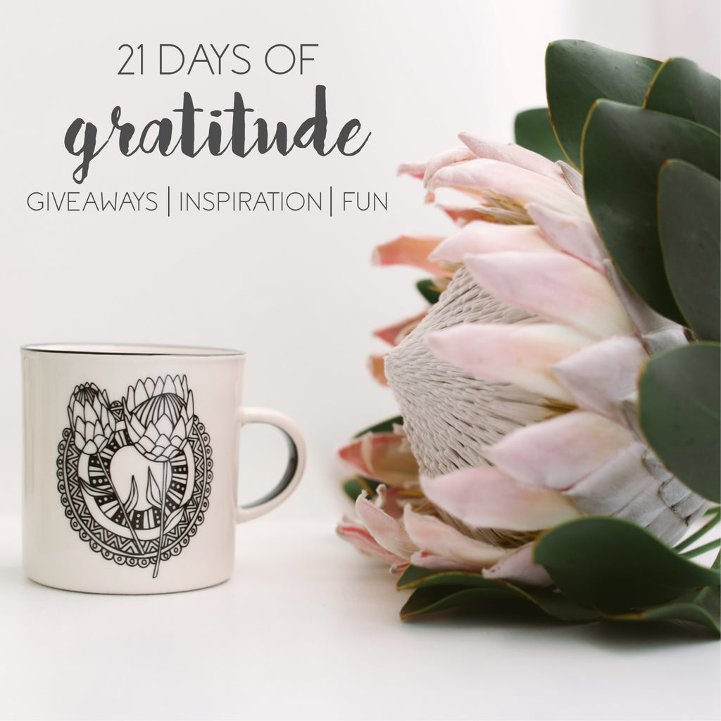21 days of gratitude with Sugar and Vice