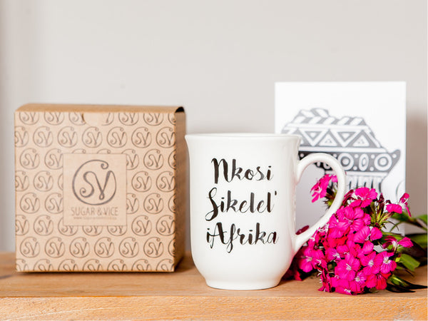 10 souvenir gifts Nkosi sikilel mug - Sugar and Vice blog