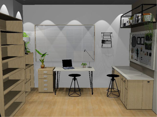 Pinterest worthy office makeover 3d rendering - Sugar and Vice