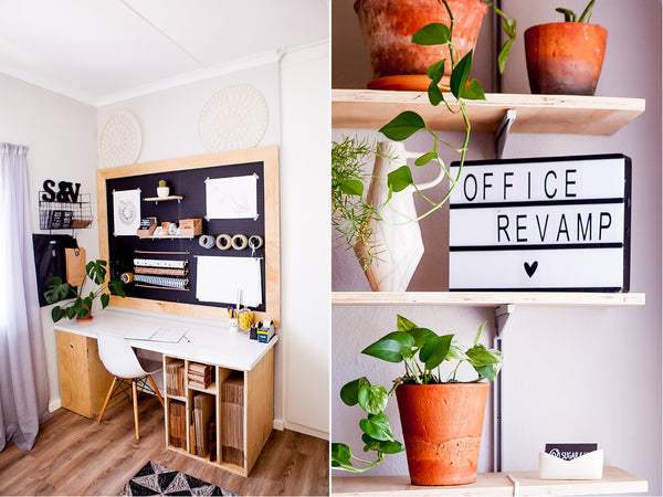 Pinterest worthy office makeover - Sugar and Vice