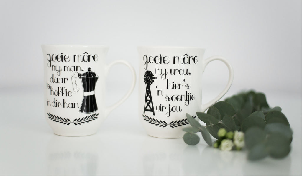 Afrikaans quote mugs