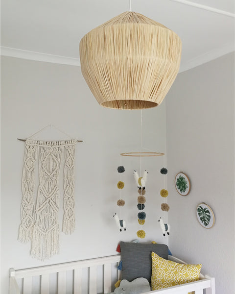 Bohemian Neutral Girl Nursery Inspiration - Macrame - Sugar and Vice