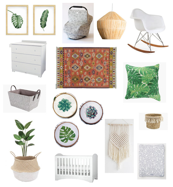 Bohemian Neutral Girl Nursery Inspiration - Sugar and Vice