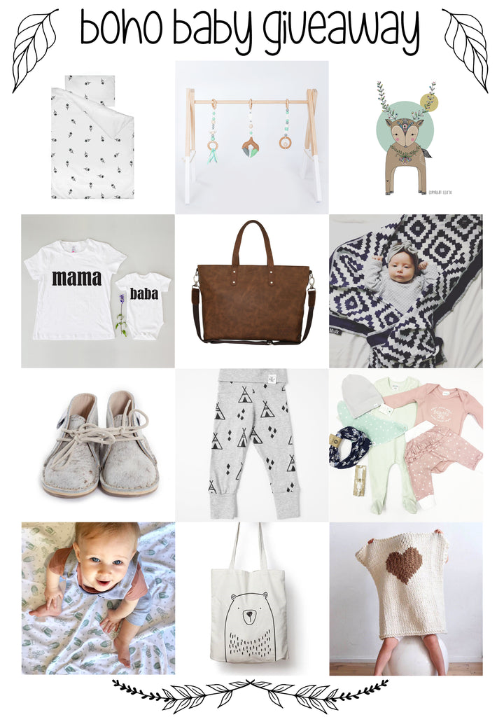 Bohemian Baby Giveaway online - Sugar and Vice