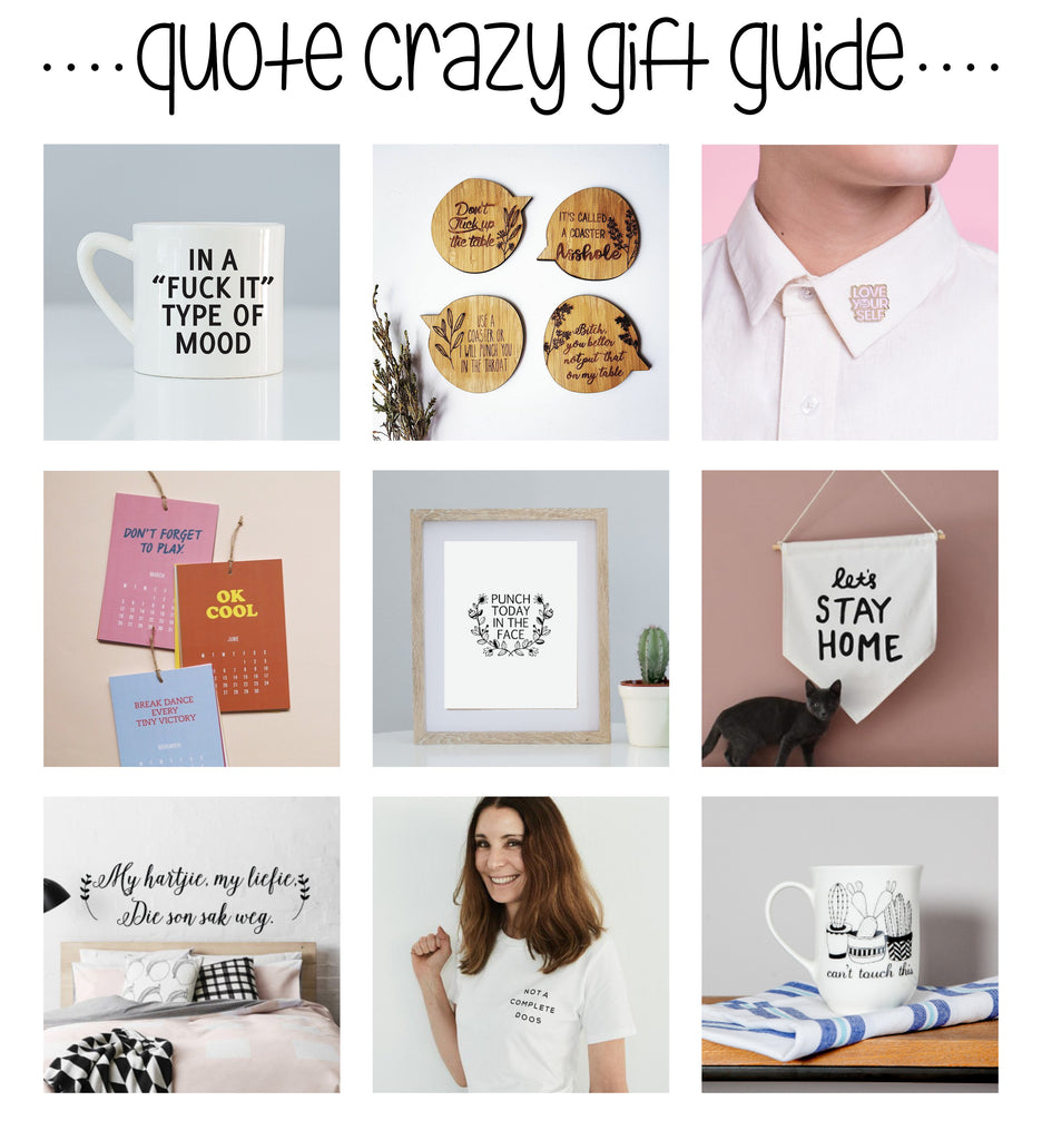 Christmas Gift Guide Quote Crazy Sugar and Vice