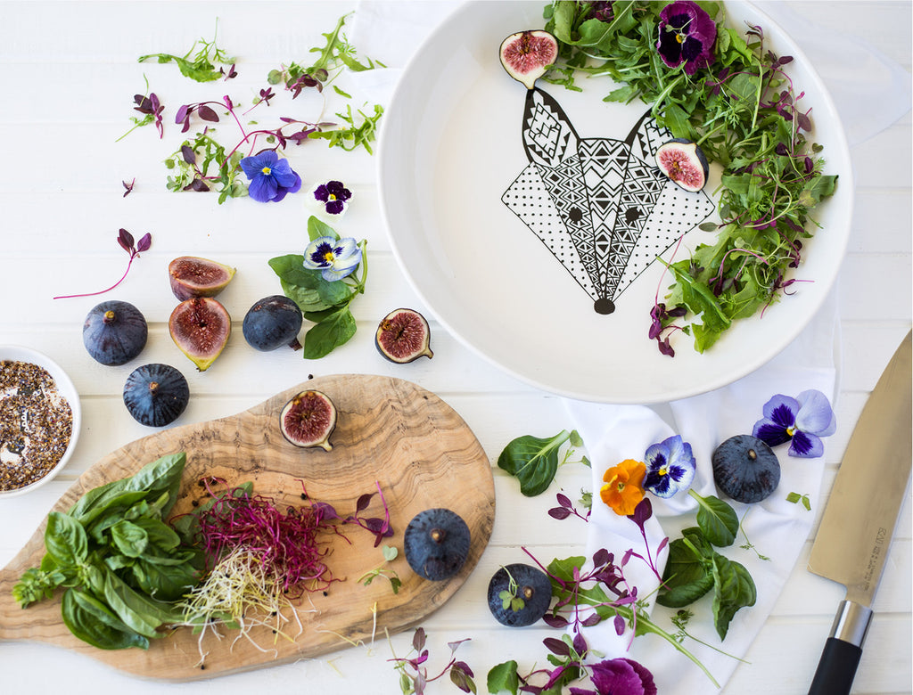 Fig & Goat's Cheese Healthy Salad Recipe