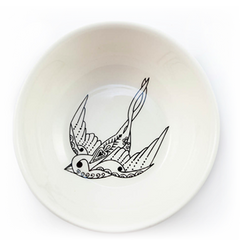 Flying SoloTrinket Ceramic Bowl