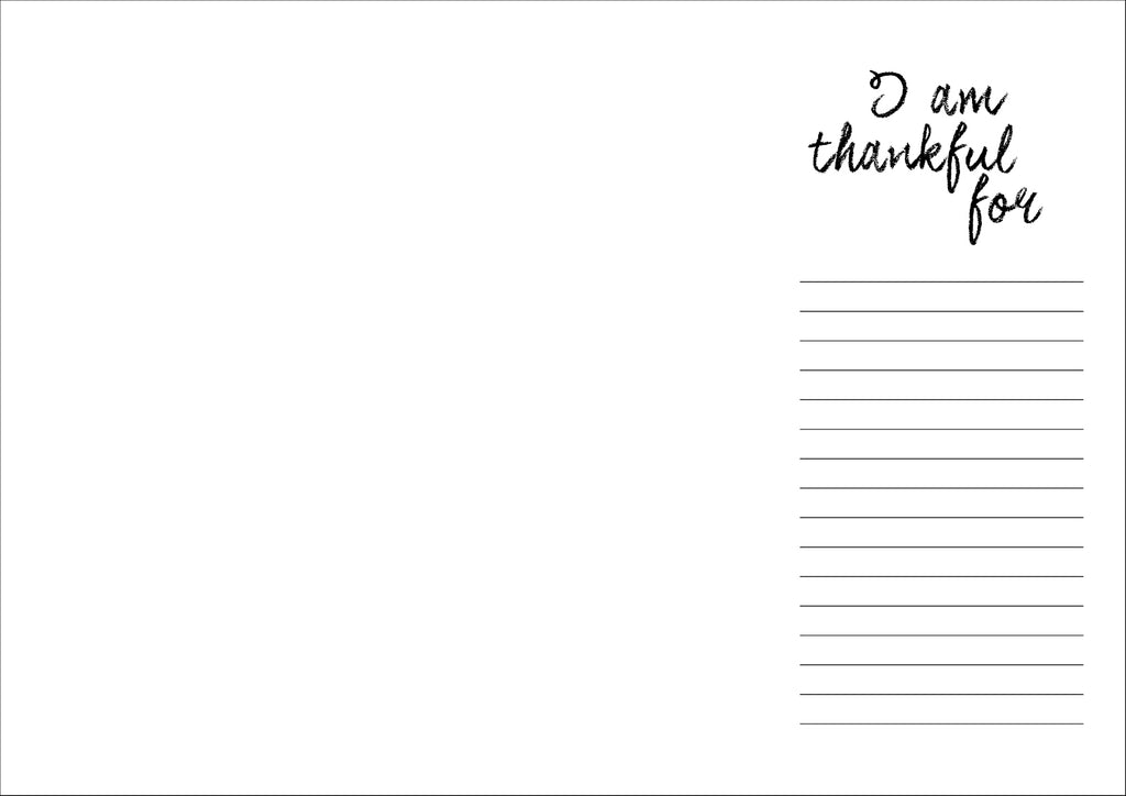 21 Days of gratitude DIY: Free download Thankful Placemat