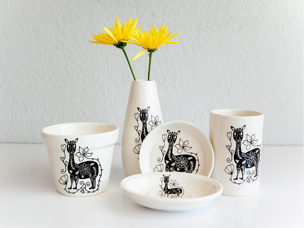 Handmade ceramic Llama range online - Sugar and Vice