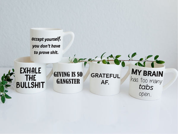 Handmade ceramic slogan mugs online - Sugar and Vice