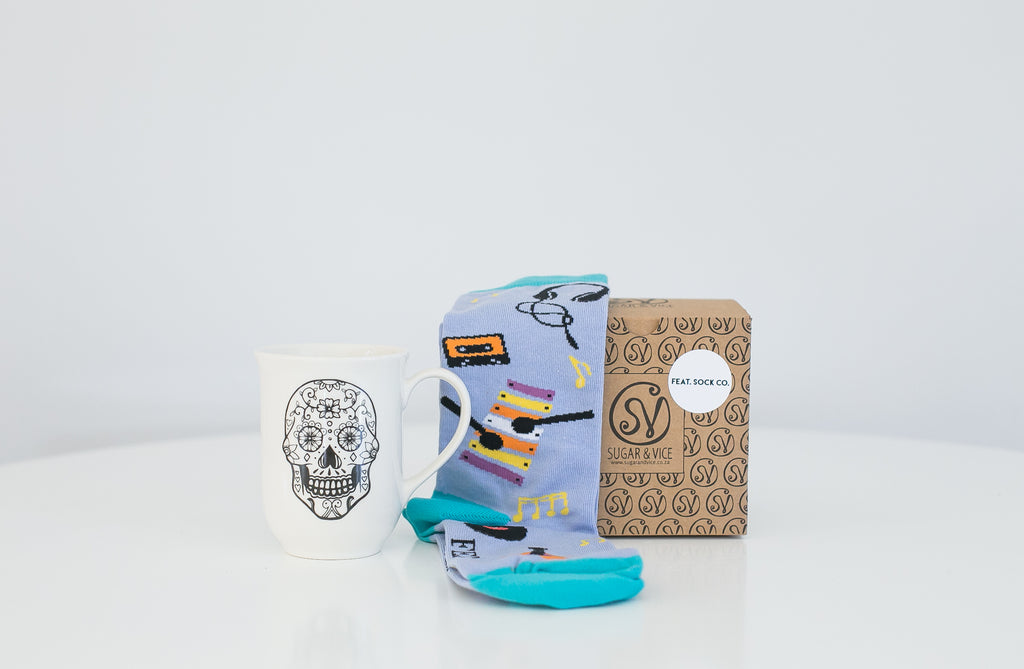 Feat Sock Co and Sugar and Vice Christmas gift pack
