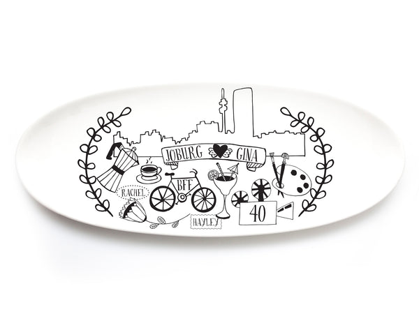 Customised illustrated platter online - Sugar & Vice