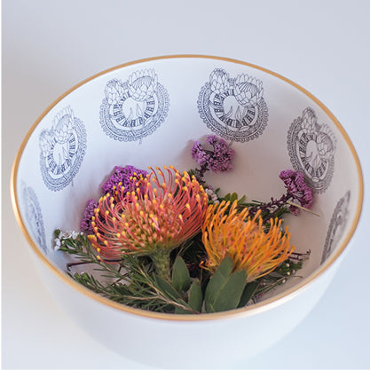 Buy-protea-limited-edition-gold-rimmed-ceramic-handmade-bowls-cape-town