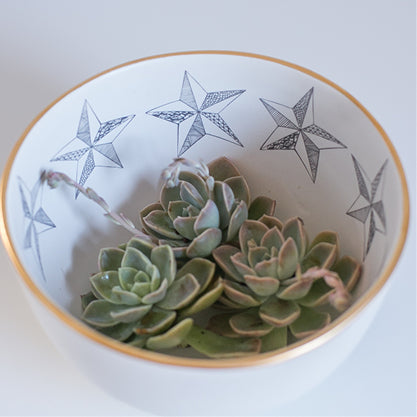 Buy-star-limited-edition-gold-rimmed-ceramic-handmade-bowls-cape-town