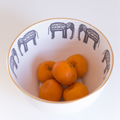 Buy-elephant-limited-edition-gold-rimmed-ceramic-handmade-bowls-cape-town
