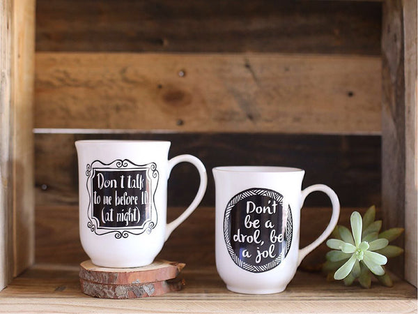 Limited edition mugs with Glitz and Grammar online - Sugar and Vice
