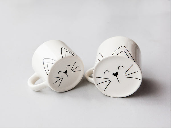 New matching mommy and toddler cat face mugs online - Sugar and Vice