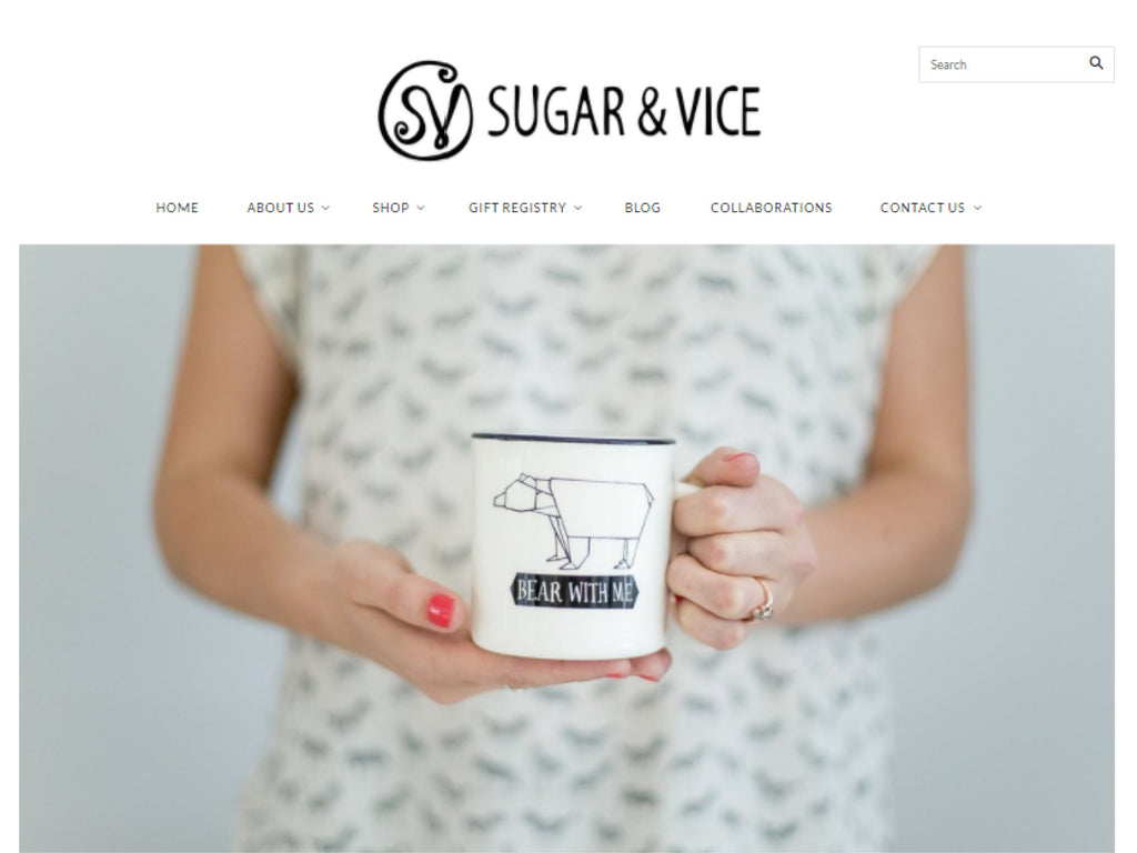 New website reveal - Sugar and Vice