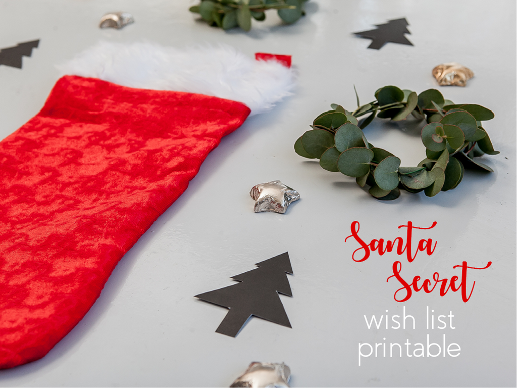Secret Santa wish list printable online - Sugar and Vice