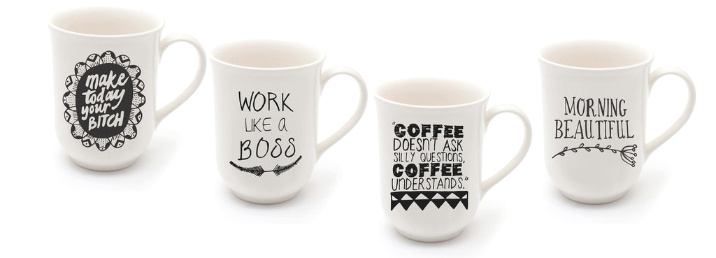 Quirky Quote Mugs Sugar and Vice
