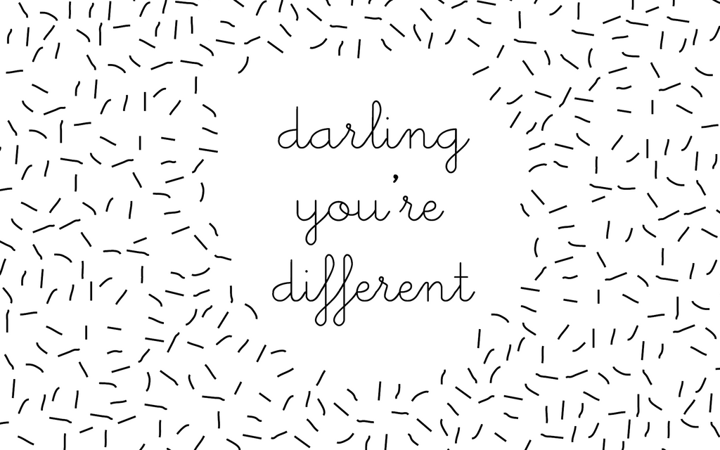 Sugar and Vice Desktop Wallpaper darling youre different quote