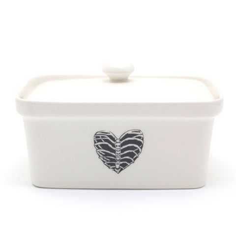 Sugar and Vice Heart Butter Dish