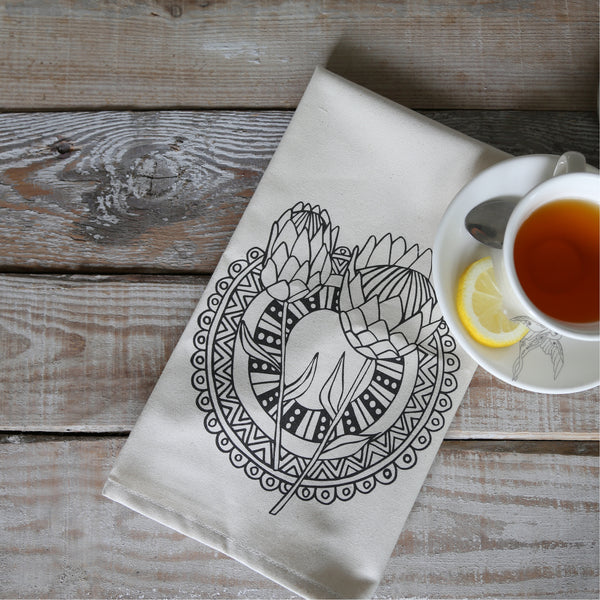 Sugar and Vice Protea Tea Towel