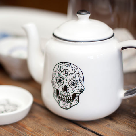 Sugar and Vice Sugar Skull Teapot