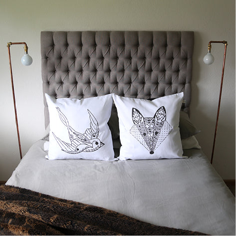Sugar and Vice Swallow and Fox Scatter Cushions