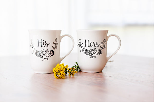 Valentines Gift Ideas - His and hers mugs - Sugar and Vice