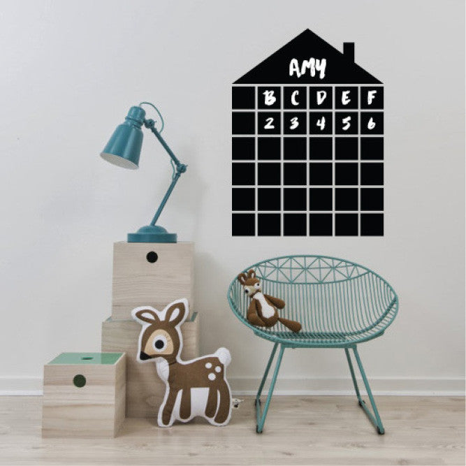 Black little house wall decals online - Sugar and Vice