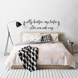 Black my hartjie my liefie die son sak weg wall decals online - Sugar and Vice
