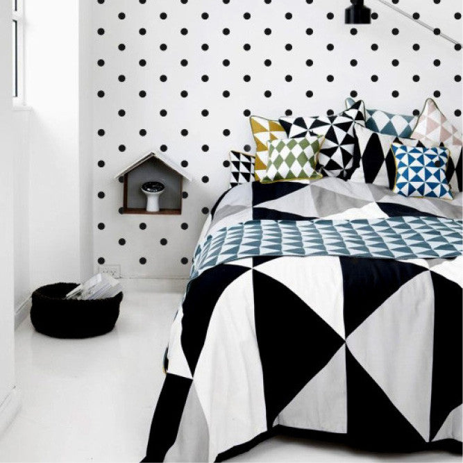 Black polka dots wall decals online - Sugar and Vice