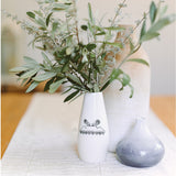 Ceramic white table mountain vase online - sugar and vice