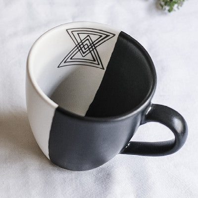 Dipped glaze mug - Geometric A - limited edition