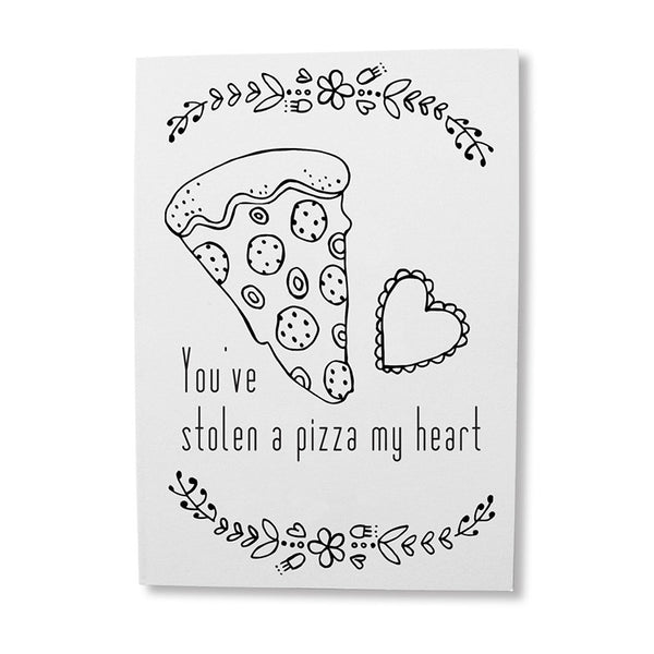 Funny pizza pun greeting card online - sugar and vice