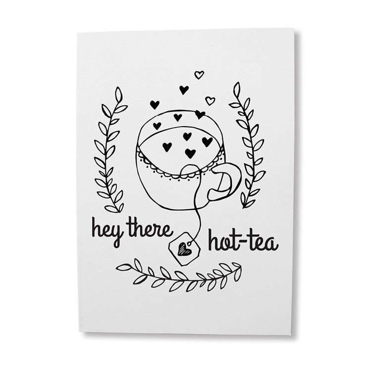 Funny tea pun greeting card online - sugar and vice