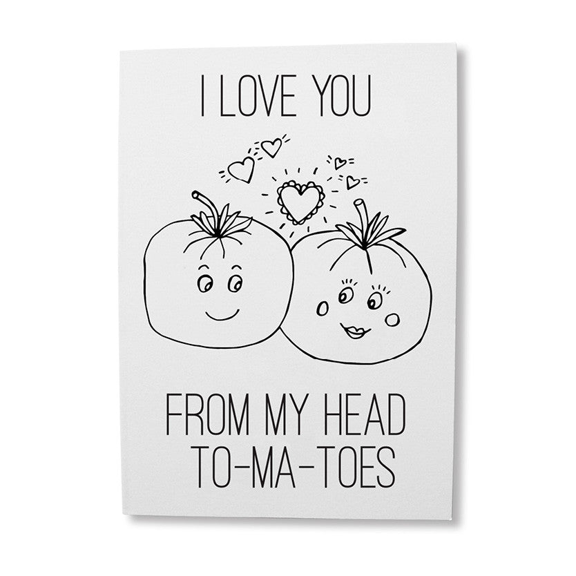 Funny tomatoes pun greeting card online - sugar and vice