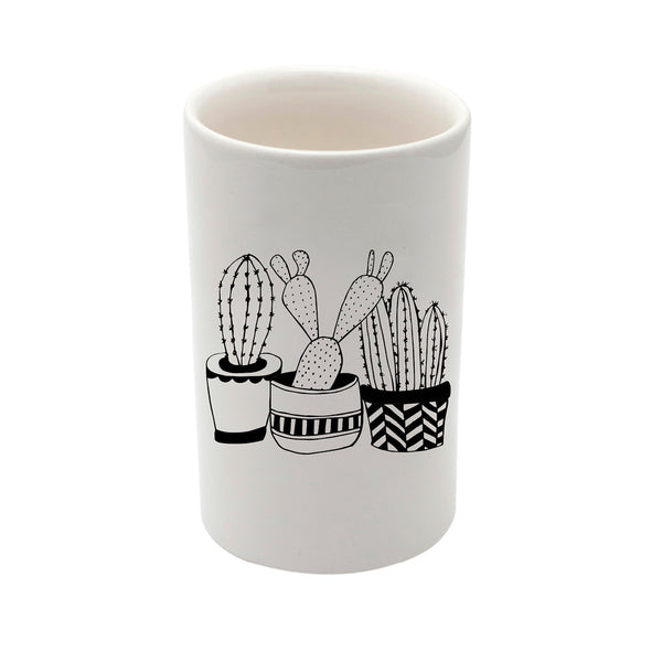 Illustrated cacti plants ceramic utility storage jar online - sugar and vice - cape town