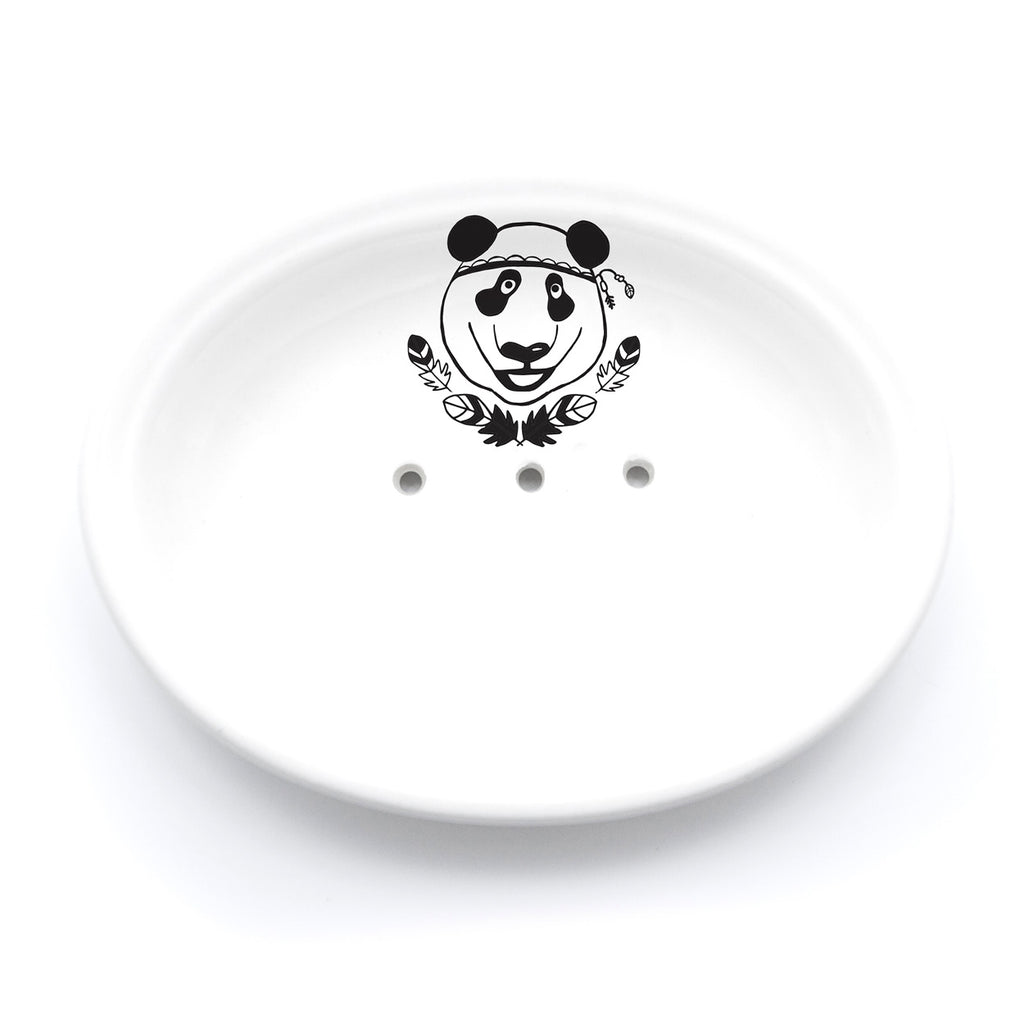 Illustrated panda soap dish online - South Africa -  Sugar and Vice