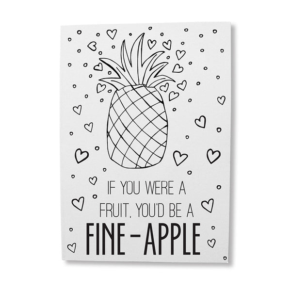 Pineapple pun greeting card online - sugar and vice