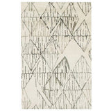 Triangle pattern black and white wool rug online - Sugar and Vice