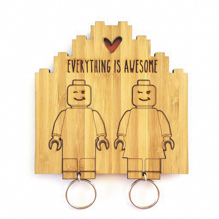Lego His & Hers Everything is Awesome key chain set - Sugar & Vice