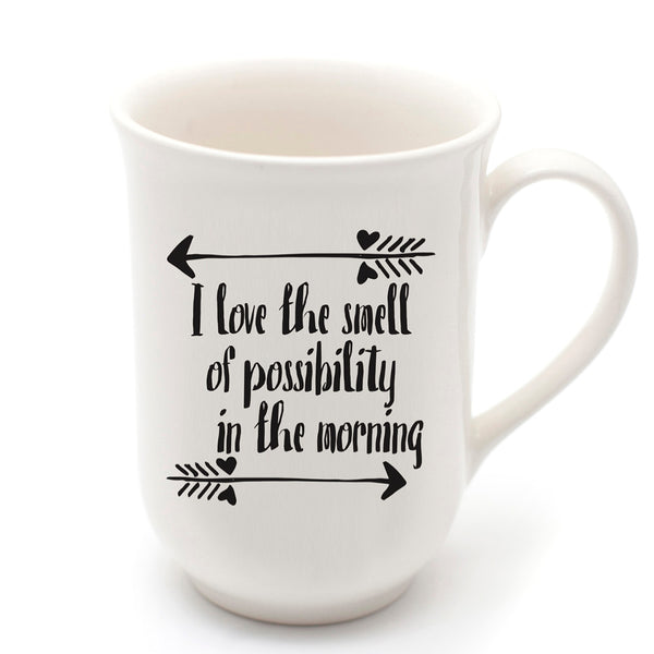 White handmade love the smell quote ceramic mug online - Sugar and Vice
