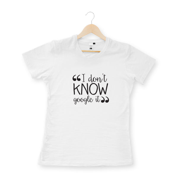 White illustrated google it slogan quote unisex t-shirt online - Sugar and Vice