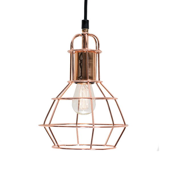 Wire light pendant in copper online - sugar and vice