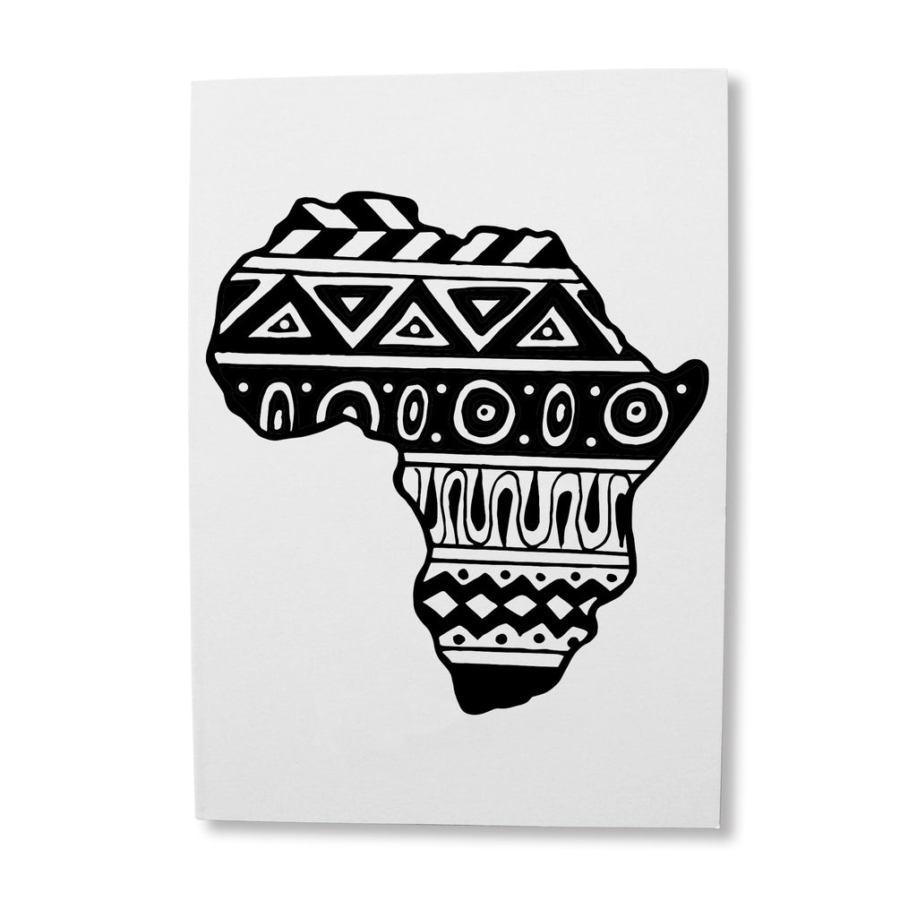 African design birthday card for him or her