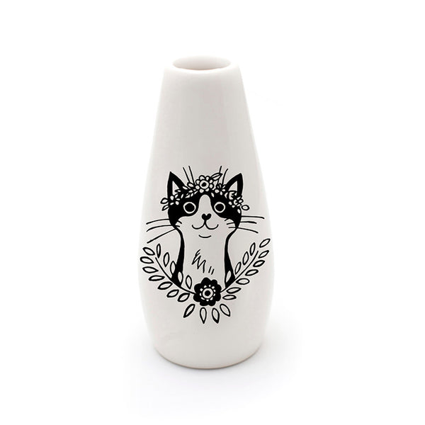 bohemian cat ceramic vase - sugar and vice - cape town