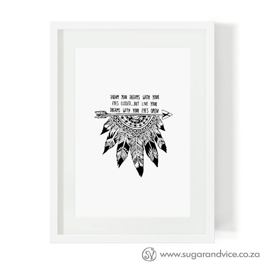 buy-art-prints-cape-town-indian-feathers-south-africa-home-decor