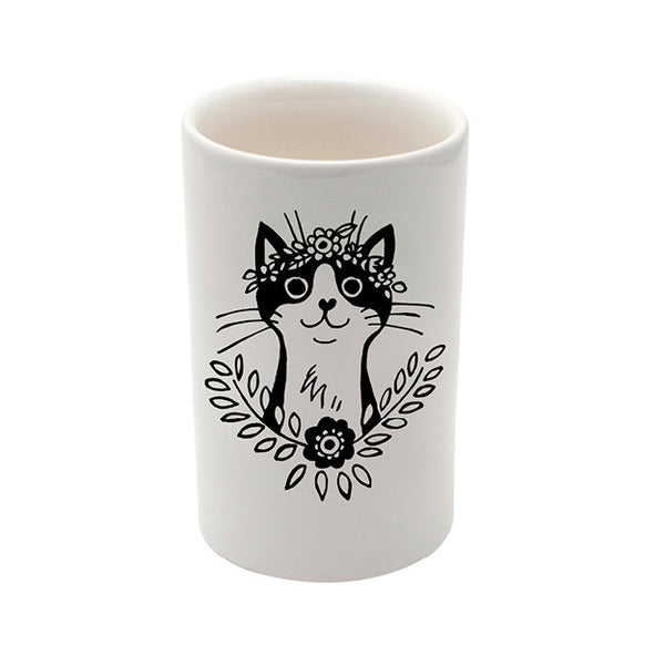 cat ceramic utility storage jar - sugar and vice - cape town
